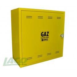 Obudowa metalowa GAZ (500x500x250) bez pleców, żółta