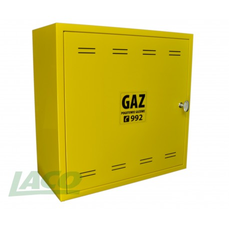 Obudowa metalowa GAZ (500x500x250) /żółta