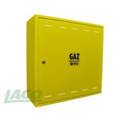 Obudowa metalowa GAZ (600x600x250) bez pleców,żółta