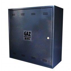 Skrzynka GAZ 600x600x250 z plecami, klucz gaz, RAL7016